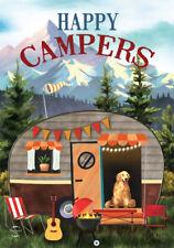 "Great Outdoors Camper Fall Garden Flag Rv Dog Autumn 12.5"" x 18"" Briarwood Lane"