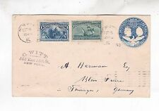 1893 two columbus stamps from NY to germany Scarce!      g1928