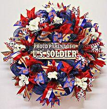 Military Parent Wreath, Patriotic Wreath, Parent Of Soldier Wreath, Soldier