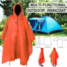 3 IN 1 Hooded Raincoat Poncho Women Men Outdoor Waterproof Rain Coat Rainwear