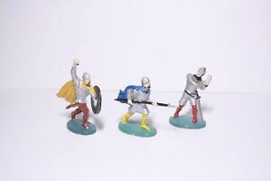 Elastolin Soldier Knight Norman Fighting Spearman figure x3