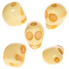 Grano de resina acrílico gótico calavera Amarillo 19mm Paquete de 5 (D48/2)