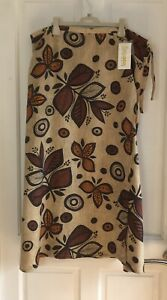 New With Tags Ladies Linen Wraparound Skirt Size 20