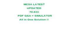 MCSA Exam 70-533 - Microsoft Azure Solutions -Q&A  Test PDF & Sim