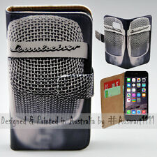 Wallet Phone Case Flip Cover for iPhone 6 Plus / 6S Plus Vintage Steel Mesh Mic
