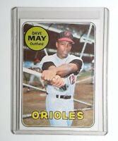 1969 Topps Baseball #113 Dave May Card Baltimore Orioles