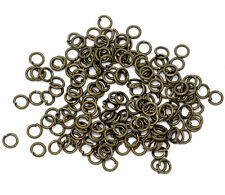 Bronze Tone Open Jump Rings 4mm Dia. Findings, sold per packet of 1500