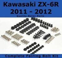 Black GHMotor Complete Fairings Bolts Screws Fasteners Kit Set Made in USA for 1996 1997 1998 1999 2000 2001 2002 2003 KAWASAKI ZX7R ZX-7R