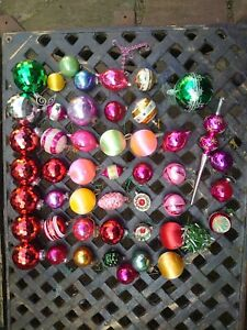 Collection Of Vintage Christmas Tree Baubles
