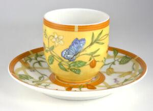 Hermes Porcelain Paris La Siesta One Demitasse Cup and Saucer