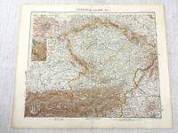 1907 Ancien Carte De The Austro Hongrois Empire Prauge Bohême Bayern