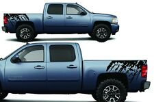 Vinyl Decal Splash Wrap Kit for Chevy Silverado Truck 1500/2500 08-13 Flat Black