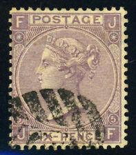 GREAT BRITAIN #45 P5 Queen Victoria 6p Postage Stamp Used 1865 GB UK