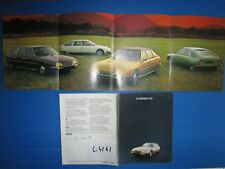 C.4161 / catalogue gamme CITROEN CX 2000 .2400 . 2200 diesel  aout 1976