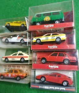 HERPA Wegener HO Model Cars X 8 Inc VW Ferrari Audi Golf BMW 1:87 OVP