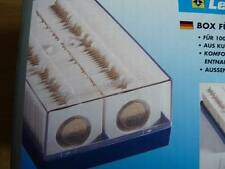 FARO MONETA Scatola con 100 22.5mm 2 x 2 MONETA contenitori