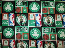 BOSTON CELTICS SHAMROCK LICENSED COTTON FABRIC BTHY
