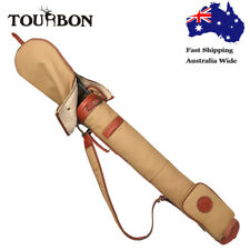 Tourbon Pencil Golf Club Bag Carry Sunday Range Bag Travel Foldable Vintage AU