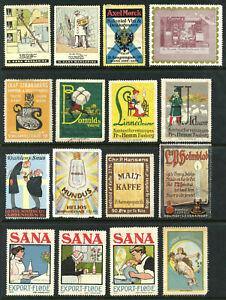 Denmark Poster Stamps - Collection of 16 Different         (# 3599)