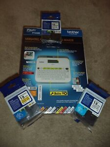 👍BONUS Brother P-Touch PT-D400 Self Adhesive Sticker Tape Label Maker FREE 18MM