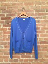 Dries Van Noten Men's Cardigan Sweater, Merino Wool + Cotton, Sz Medium Belgium