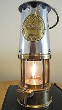 Miners lamp mining memorabilia,Fully workingProtector type 6 stainless steel top