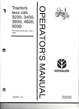 FORD 3230, 3430, 3930, 4630, & 5030 OPERATOR  MANUAL 6/94 & UP 42323052