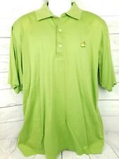 Augusta National Golf Shop Polo Masters Green Golf Shirt Mens Size Large