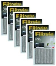 "(6) 3M 322Dc-6 20"" x 30"" x 1"" Gray Dust Reduction Filtrete Furnace Air Filters"