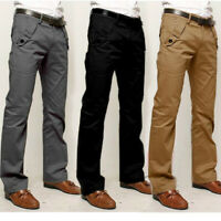 Men Casual Pencil Dress Pants Slim Fit Straight-Leg Formal Chinos Trouser Slacks