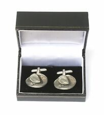 Cowboy Hat Cufflinks Pewter Made in UK Gift Boxed or Pouched QUANTITY DISCOUNT