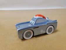 Rare Disney Pixar Cars Wooden Finn McMissile Car With Santa Hat Christmas UK