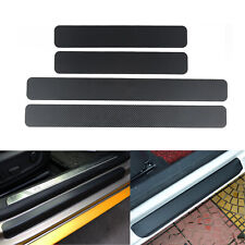 4pcs 3D Carbon Fiber Door Sill Scuff Plate Guards Door Sills Protector Universal