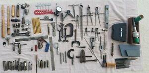 Lot of Machinist Tools Drill Bits Calipers Wrench Lathe Starrett General