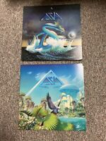 Lot of (2) ASIA LP records: Self Titled S/T & Alpha - VG+/EX --  CLASSIC ROCK