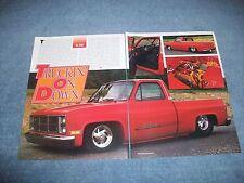 """1986 GMC Short Bed Fleetside Vintage Pro Street Article """"Truckin' on Down"""""""
