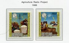 Cent African Rep Mnh 842-43 Agriculture Radio Project Zg795