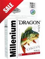Perch Fishing Mono Line Dragon PERCH Millenium Lure Predator Pike Bass Trout UK