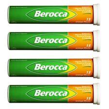 4 x BEROCCA Orange 15 effervescent tablets  (4 x 15 sealed packs = 60 tablets)