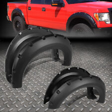 "FOR 09-14 F150 PICKUP SMOOTH POCKET-RIVETED WHEEL FENDER FLARES 1.75"" 4PCS COVER"