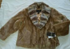 RARE Terry Lewis Classic Luxury Collection Faux Fur Coat,  New w/Tags, SIZE 1X