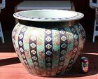 Huge Antique Imari Porcelain Japanese Jardiniere Fish Bowl 19th Century 23