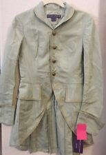 WOMENS VINTAGE RALPH LAUREN 100% SILK EQUESTRIAN RIDING COAT TAILCOAT