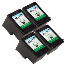 4PK HP 61XL Black Ink Cartridge CH563WN Deskjet 1000 Deskjet 1050 Deskjet 2050