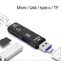 3 in1 Micro SD USB TF OTG to USB 2.0 Adapter Card Reader For Android/IOS Tablet