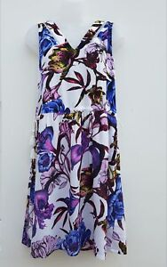 Beach Sun Dress Cover up White Purple Orchid. New N*XT  Sizes 6-16 RRP £24
