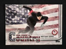2018 Topps US Winter Olympics Pride and Country #BB Brittany Bowe