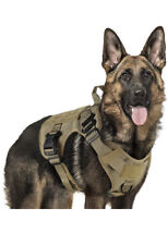 Tactical Dog Harness Training Vest Molle And Loop Panels Adjustable Medium