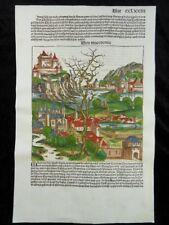 MAZEDONIEN MACEDONIA INKUNABEL HOLZSCHNITT SCHEDEL WELTCHRONIK WOODCUT 1493 J59