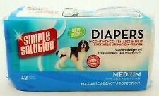 Simple Solution Dog Disposable Diapers Medium 12pk